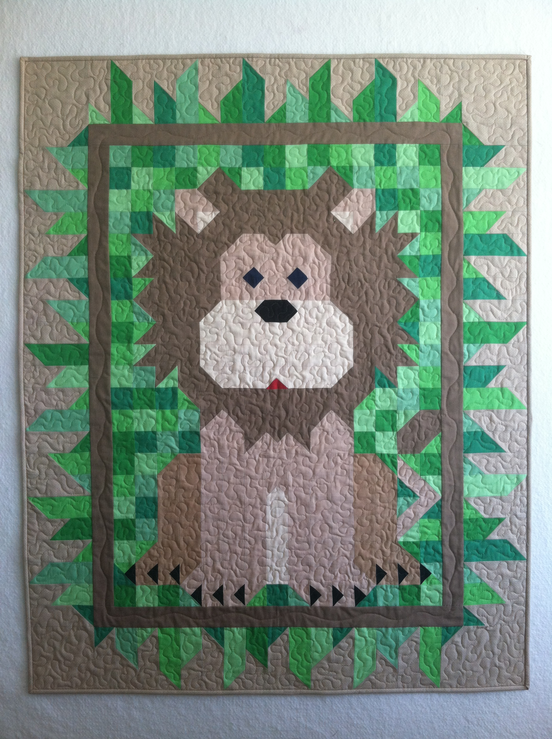 Lion Baby Quilt And Exploring Arizona Quiltineering
