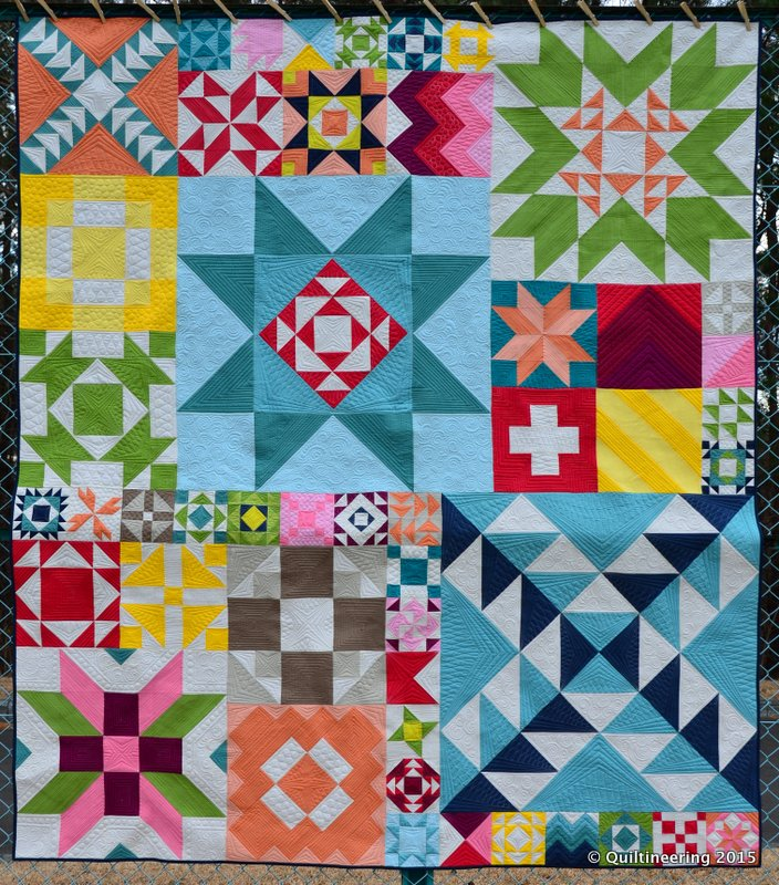 Modern building blocks quilt complete quiltineering for Modern house quilt block